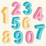 3D Numbers Party SVG Kit