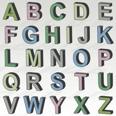 3D Letters SVG Kit $8 99 SVG Files for Cricut Silhouette