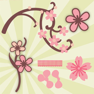 Cherry Blossoms Mini SVG Collection