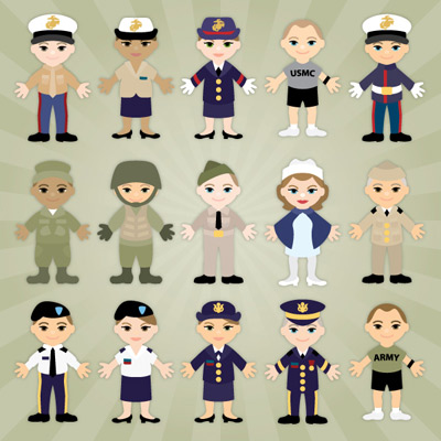 Military Lil' Peeps Part I SVG Collection