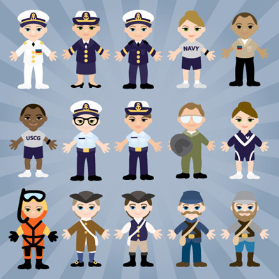 Military Lil' Peeps Part II SVG Collection