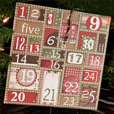 Classic Christmas Advent Calendar SVG Kit