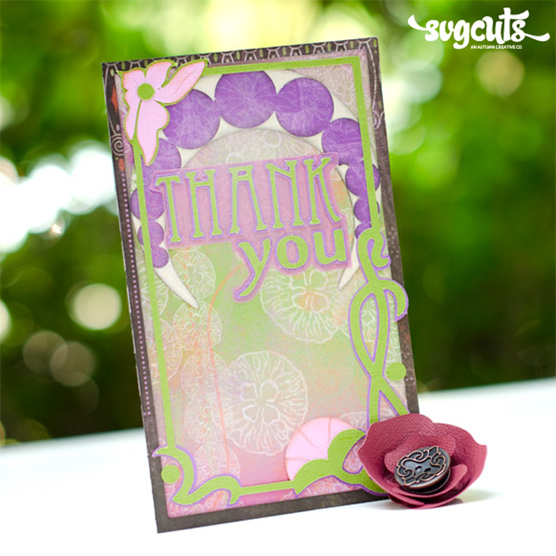 Art Nouveau Thank You Card