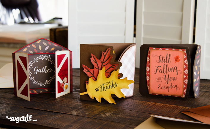 Autumn Gatefold Cards SVG Kit