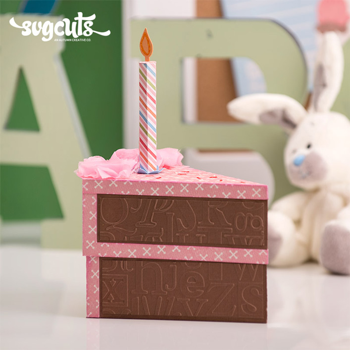 Birthday Cake Slice Box
