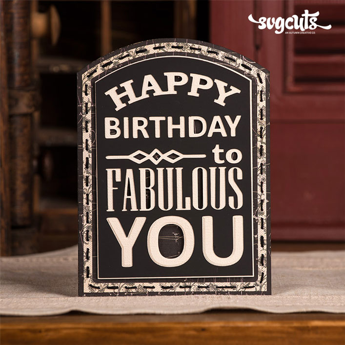 Birthday Chalkboard Card