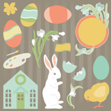 Cotton Tail Village SVG Kit