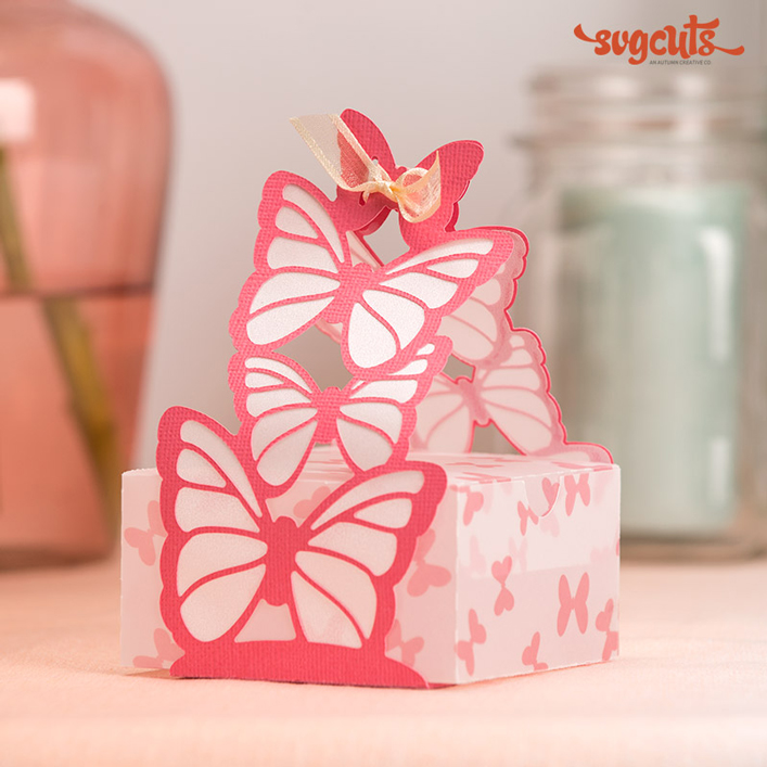 Butterfly-Wrapped Favor Box