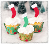 Christmas Cupcake Wrappers SVG Kit