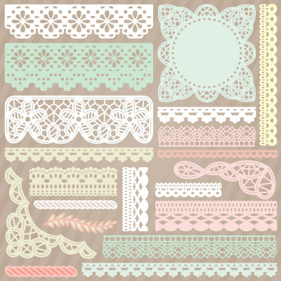 Battenburg Lace and Crochet Trim SVG Collection