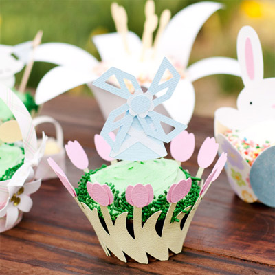 Spring Cupcake Wrappers SVG Kit