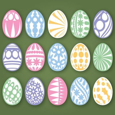 Easter Eggs SVG Collection