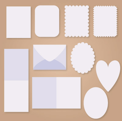 A2 Sized Envelope and Card SVG Set