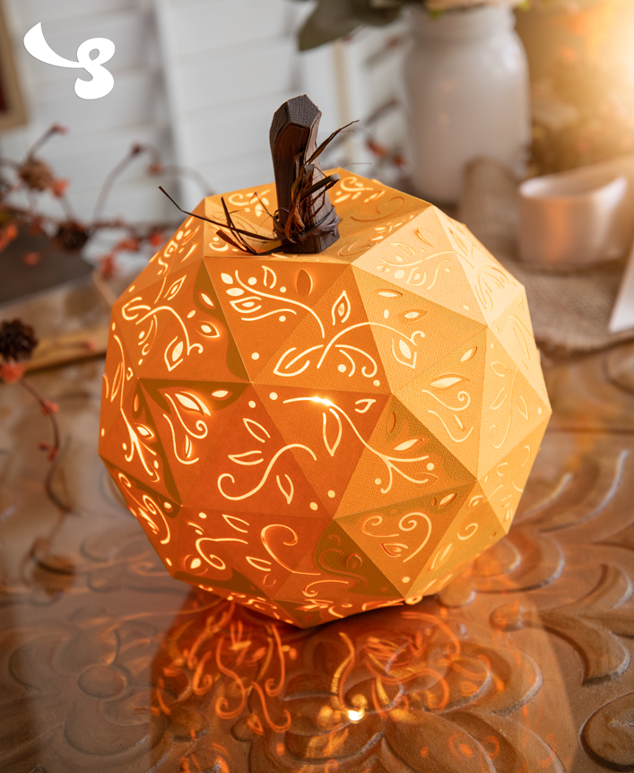 Filigree Pumpkin Lantern