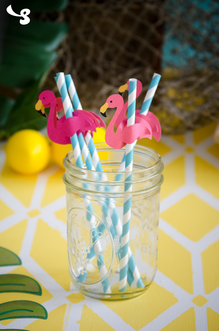 Flamingo Straws SVG Kit