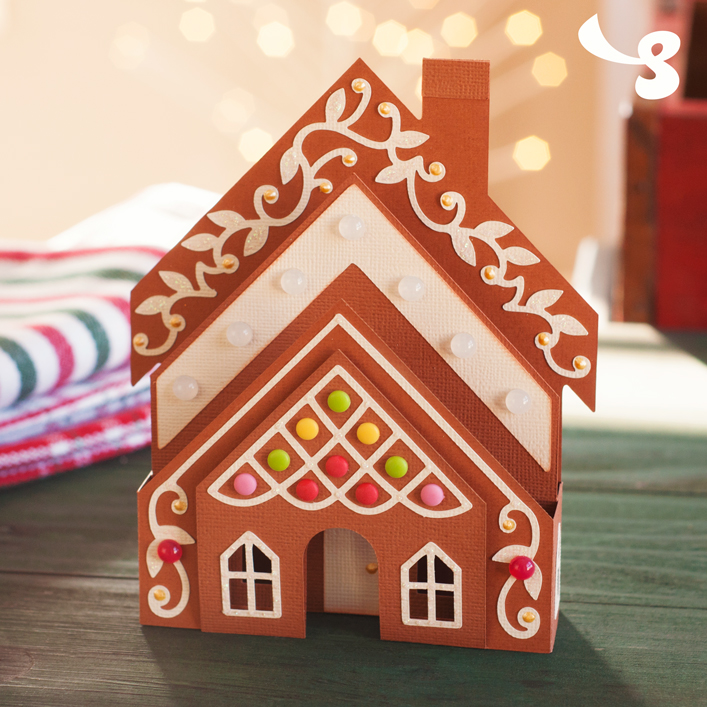 Gingerbread House Box Card