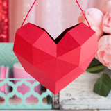Hanging Geometric Heart