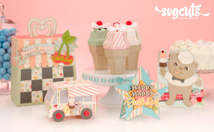 Ice Cream Birthday SVG Kit