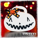 Jack O' Lantern Treat Bags SVG Kit