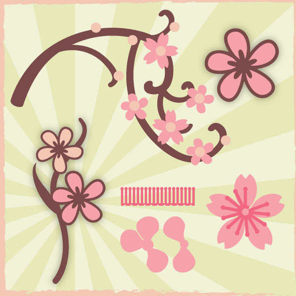 Cherry Blossoms Mini SVG Collection - Click Image to Close