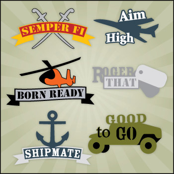 US Armed Forces Mini Pack SVG Collection - Click Image to Close