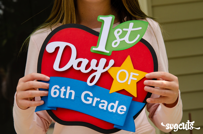 First Day of School Apple - Click Image to Close