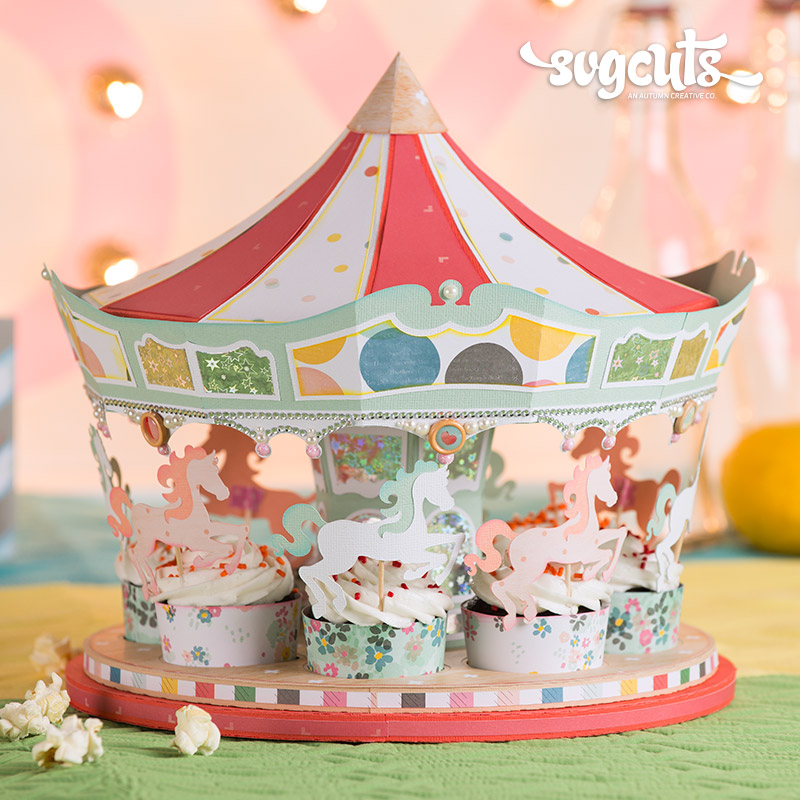Carousel Ride SVG Kit - Click Image to Close
