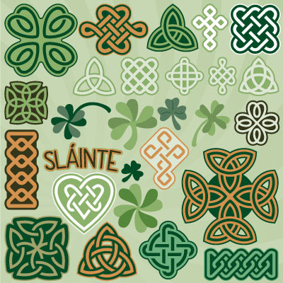 Celtic Knots and Clovers SVG Collection