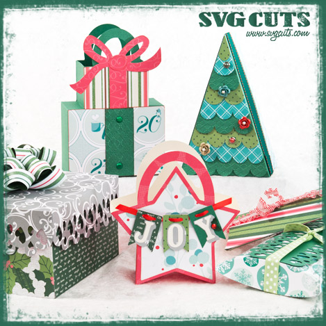 Christmas Gift Bags and Boxes SVG Kit - Click Image to Close