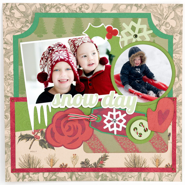 Christmas Scrapbook Pages Svg Kit 6 99 Svg Files For Cricut Silhouette Sizzix And Sure Cuts A Lot Svgcuts Com