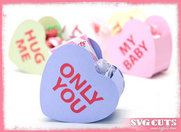 Candy Heart Goodie Bags SVG Kit - Click Image to Close