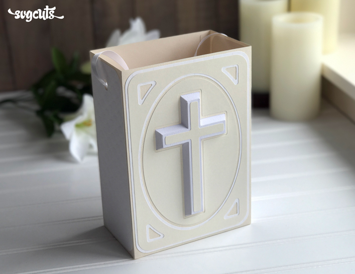 Crucifix Gift Bag SVG KIt - Click Image to Close