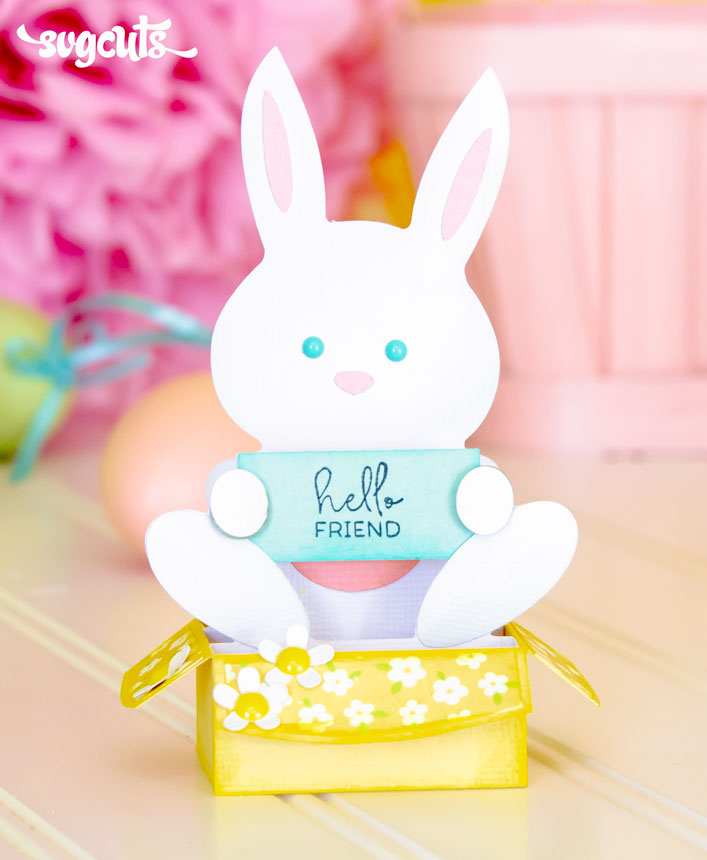 Cute Bunny Box Card - Click Image to Close