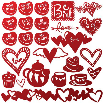 Valentines Svg Collection 5 99 Svg Files For Cricut Silhouette