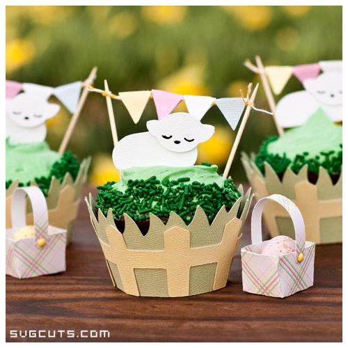 Spring Cupcake Wrappers SVG Kit - Click Image to Close