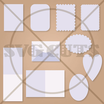 4 Bar (A1) Envelope and Cards SVG Set - Click Image to Close