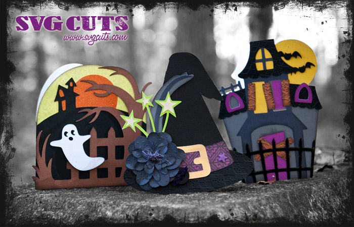 Haunted Hemlock Cards SVG Kit - Click Image to Close