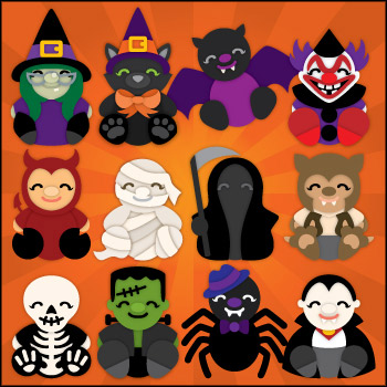 Halloween Cuddly Friends SVG Collection