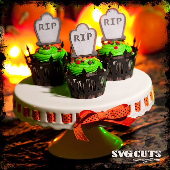 Dreadful Halloween Cupcake Wrappers SVG Kit - Click Image to Close
