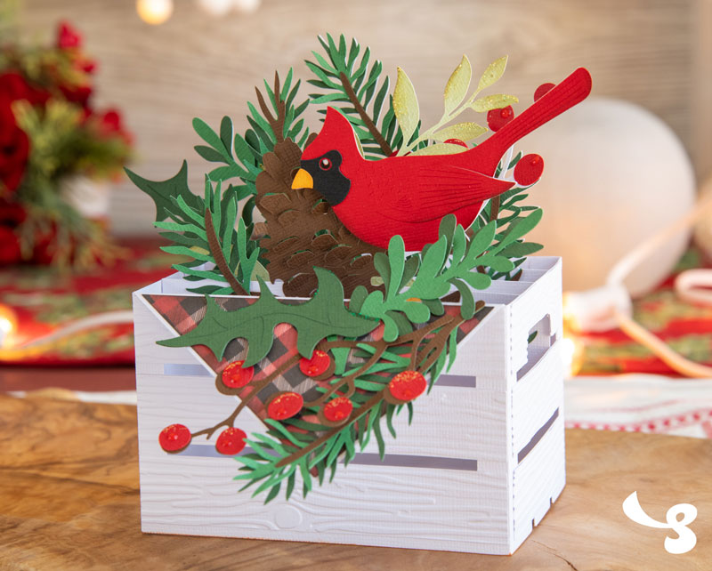 Home For Christmas Box Cards SVG Kit - Click Image to Close