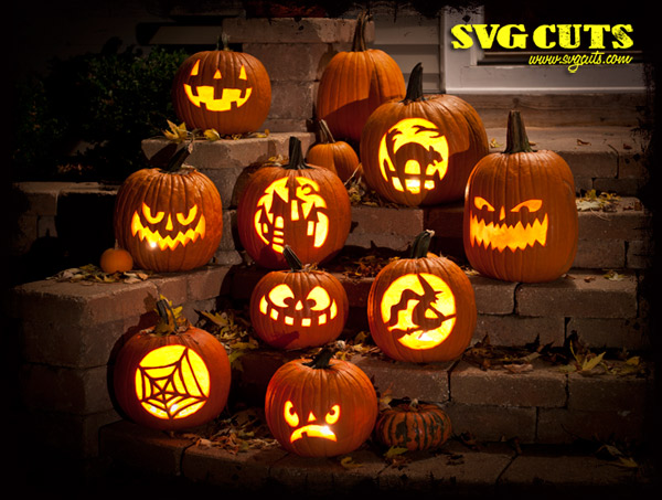 Jack O' Lantern Carving SVG Kit - Click Image to Close