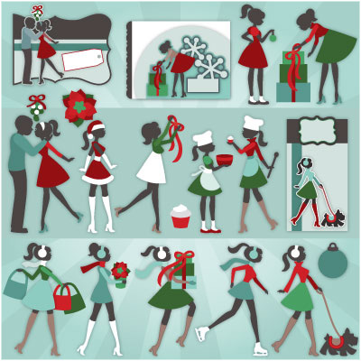 Kate's Holiday Silhouettes SVG Collection - Click Image to Close