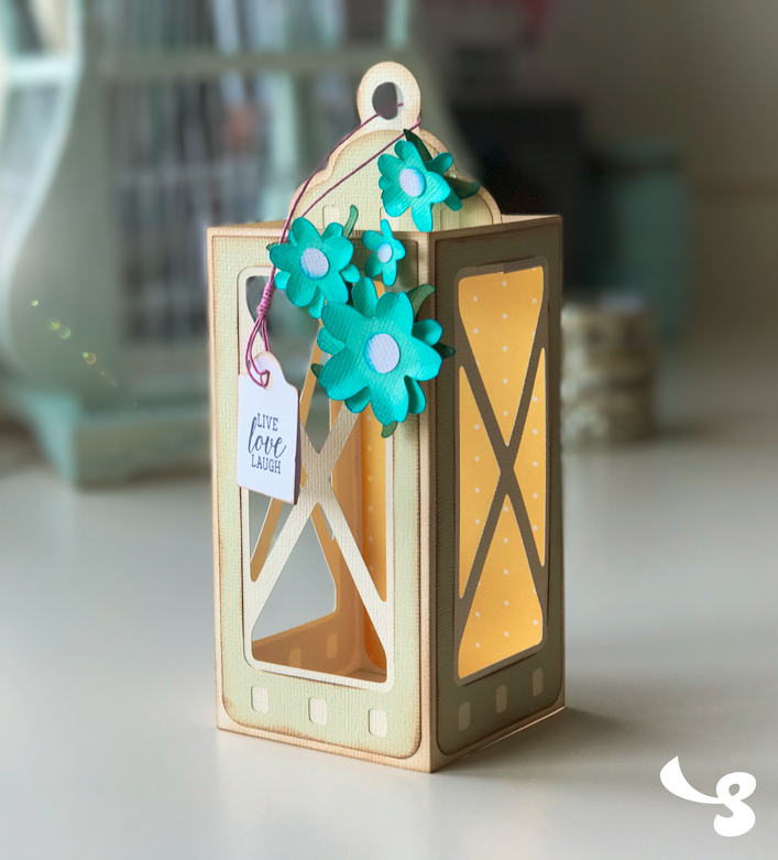 Lantern Box Card - Click Image to Close