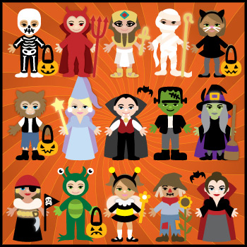 Trick Or Treat Lil' Peeps SVG Collection