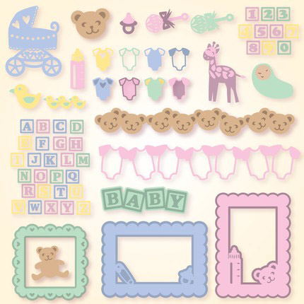 Baby Elements Svg Collection Svg Files For Cricut Silhouette