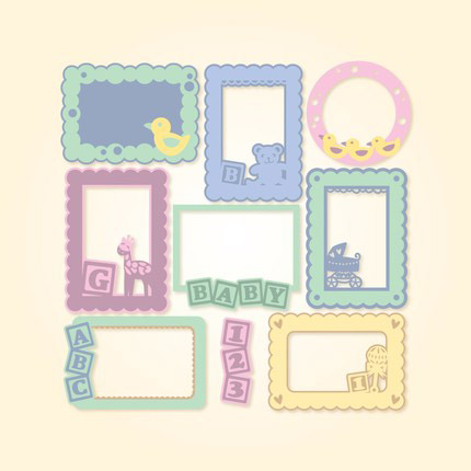 baby frames svg collection