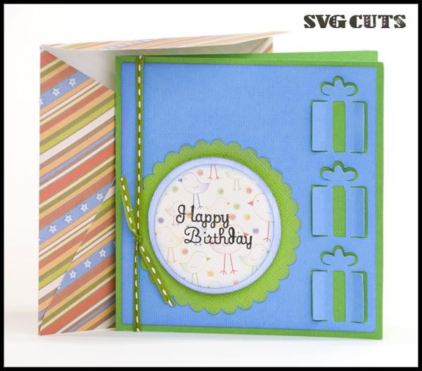 3D Birthday Cards SVG Kit