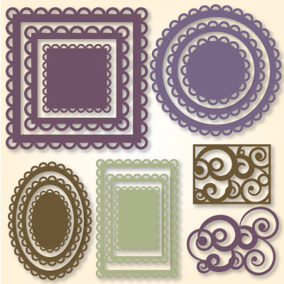 Nested Lacey Shapes SVG Collection - Click Image to Close