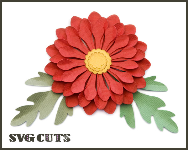 3D Mums and Fall Flowers SVG Kit - Click Image to Close