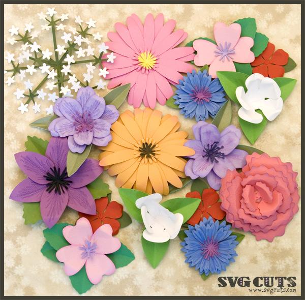 3D Flowers SVG Kit Part II